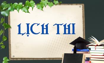 Thông báo lịch thi học kỳ 2 năm học 2020-2021