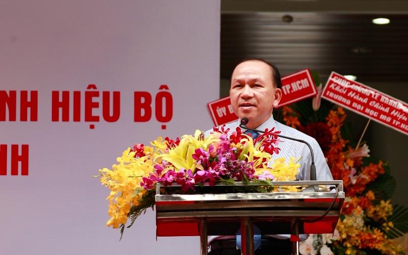 TS. Hà Hữu Phúc – Vụ trưởng, giám đốc cơ quan đại diện Bộ Giáo dục và Đào tạo phía nam Phát biểu chúc mừng.