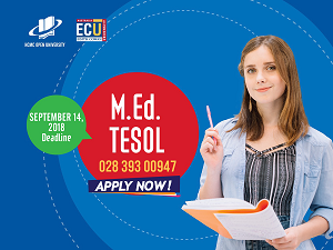 Tuyển sinh Giai đoạn 1 Thạc sĩ Giáo dục – Giảng dạy tiếng Anh (TESOL) liên kết Đại học Edith Cowan, Úc