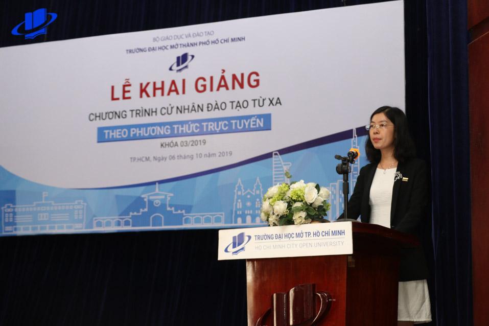 TS. Phan Thị Ngọc Thanh – Giám đốc Trung tâm Đào tạo trực tuyến