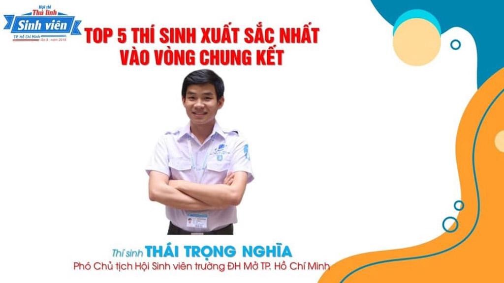 Thái Trọng Nghĩa – Top 5 Thủ lĩnh Sinh viên TP. Hồ Chí Minh năm 2019