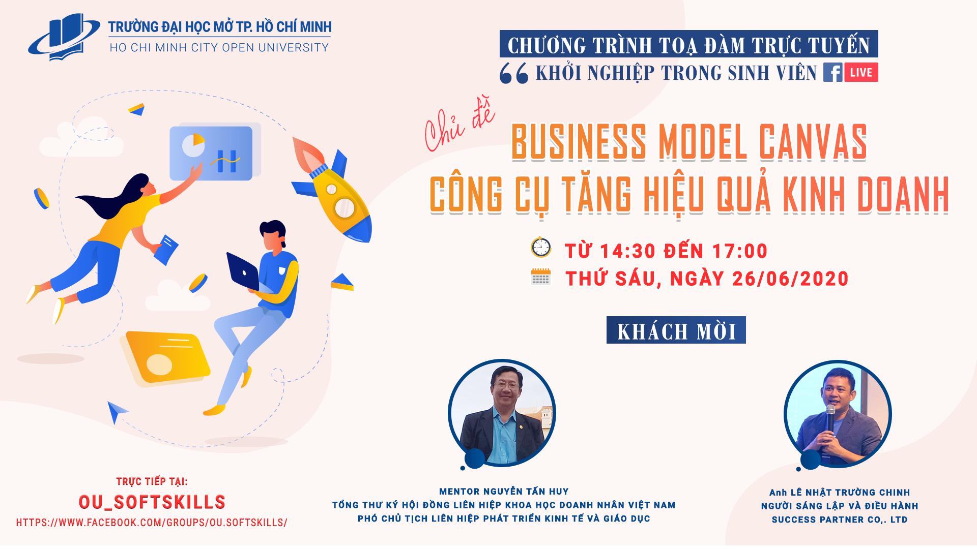 """Thông báo Về việc tổ chức chương trình Tọa đàm """"Khởi nghiệp trong sinh viên"""" Chủ đề: """"Business Model Canvas – Công cụ tăng hiệu quả kinh doanh"""""""