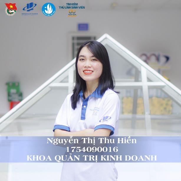 Á quân thuộc về sinh viên Nguyễn Thị Thu Hiền - khoa Quản trị kinh doanh