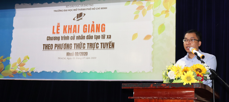 Ông Phạm Trung Kiên – Phó Trưởng phòng Hành chính Tổ chức Công ty VIAGS Tân Sơn Nhất chia sẻ cảm nghĩ về chương trình Cử nhân trực tuyến
