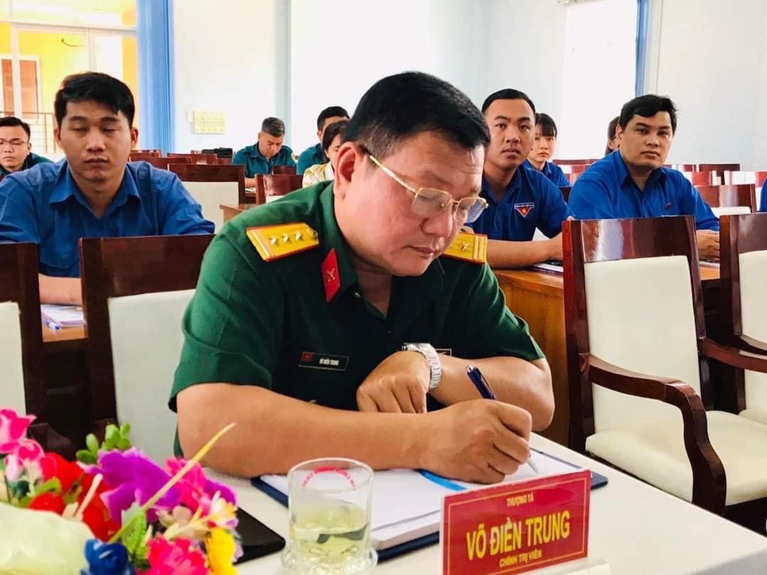 Thượng tá Võ Điền Trung, Chính trị viên Ban CHQS huyện Bình Chánh