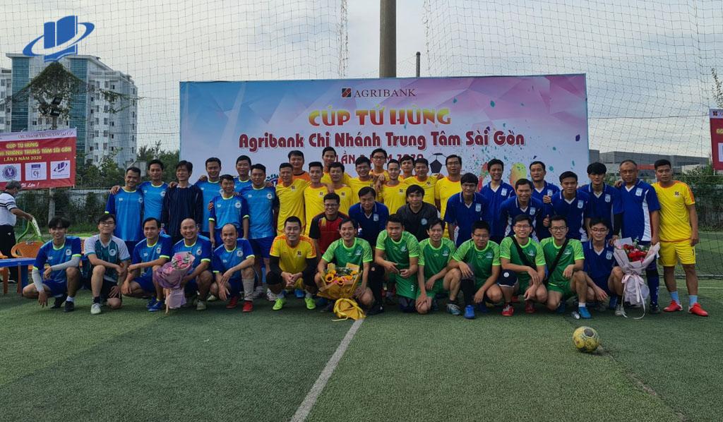 Trường ĐH Mở TPHCM đạt giải nhì, Giải bóng đá tứ hùng Cúp Agribank
