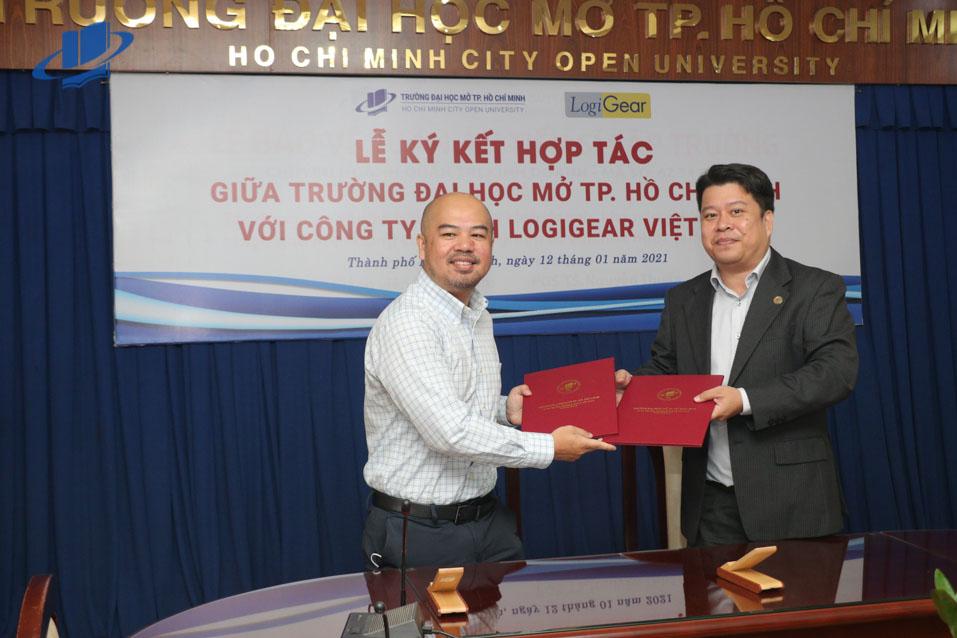 Lễ ký kết thỏa thuận hợp tác giữa Trường Đại học Mở TP.HCM và Công ty LogiGear VN