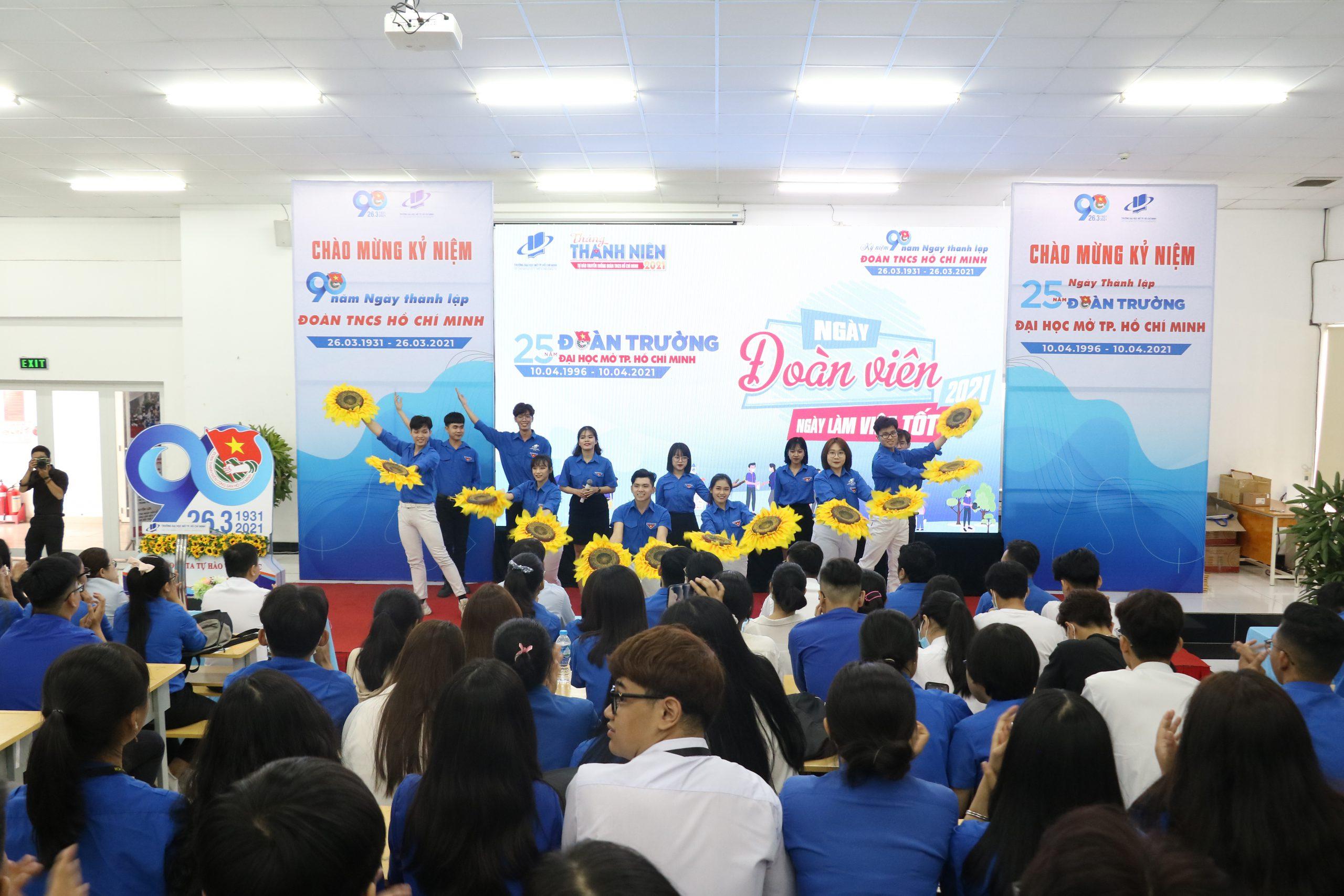 Trường ĐH Mở TPHCM tổ chức ngày Đoàn viên – Ngày làm việc tốt năm 2021