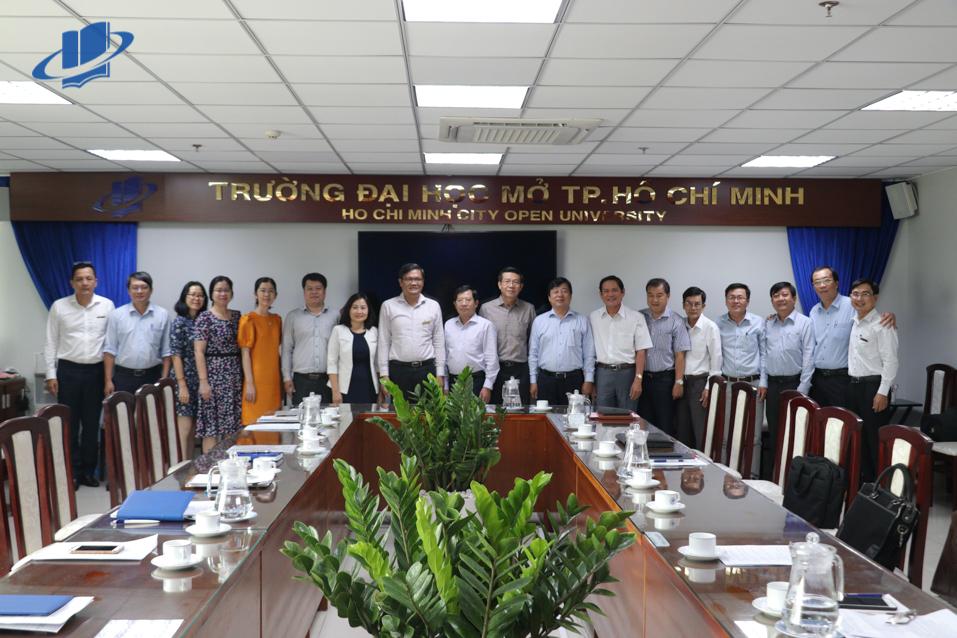 Trường Đại học Mở TP. Hồ Chí Minh đón tiếp Đoàn Sở Giáo dục và Đào tạo tỉnh Tây Ninh