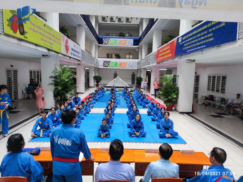 CLB Vovinam Trường ĐH Mở TPHCM tổ chức thi thăng đai cấp sơ đẳng