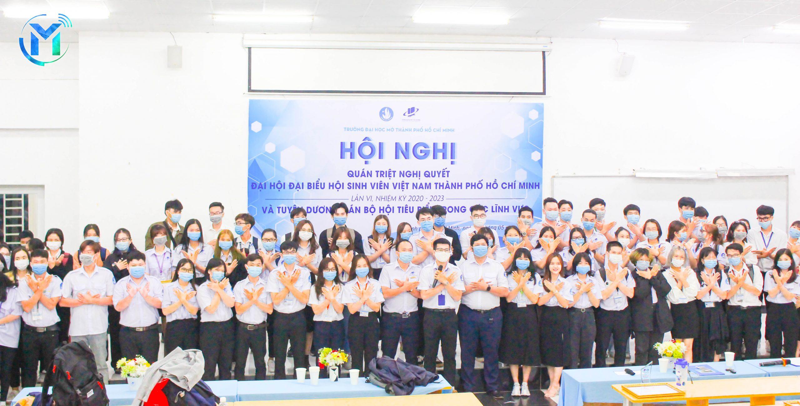 Hội nghị học tập, quán triệt Nghị quyết Đại hội đại biểu Hội sinh viên Việt Nam TP.HCM lần thứ VI, nhiệm kỳ 2020 – 2023 và Tuyên dương cán bộ Hội tiêu biểu