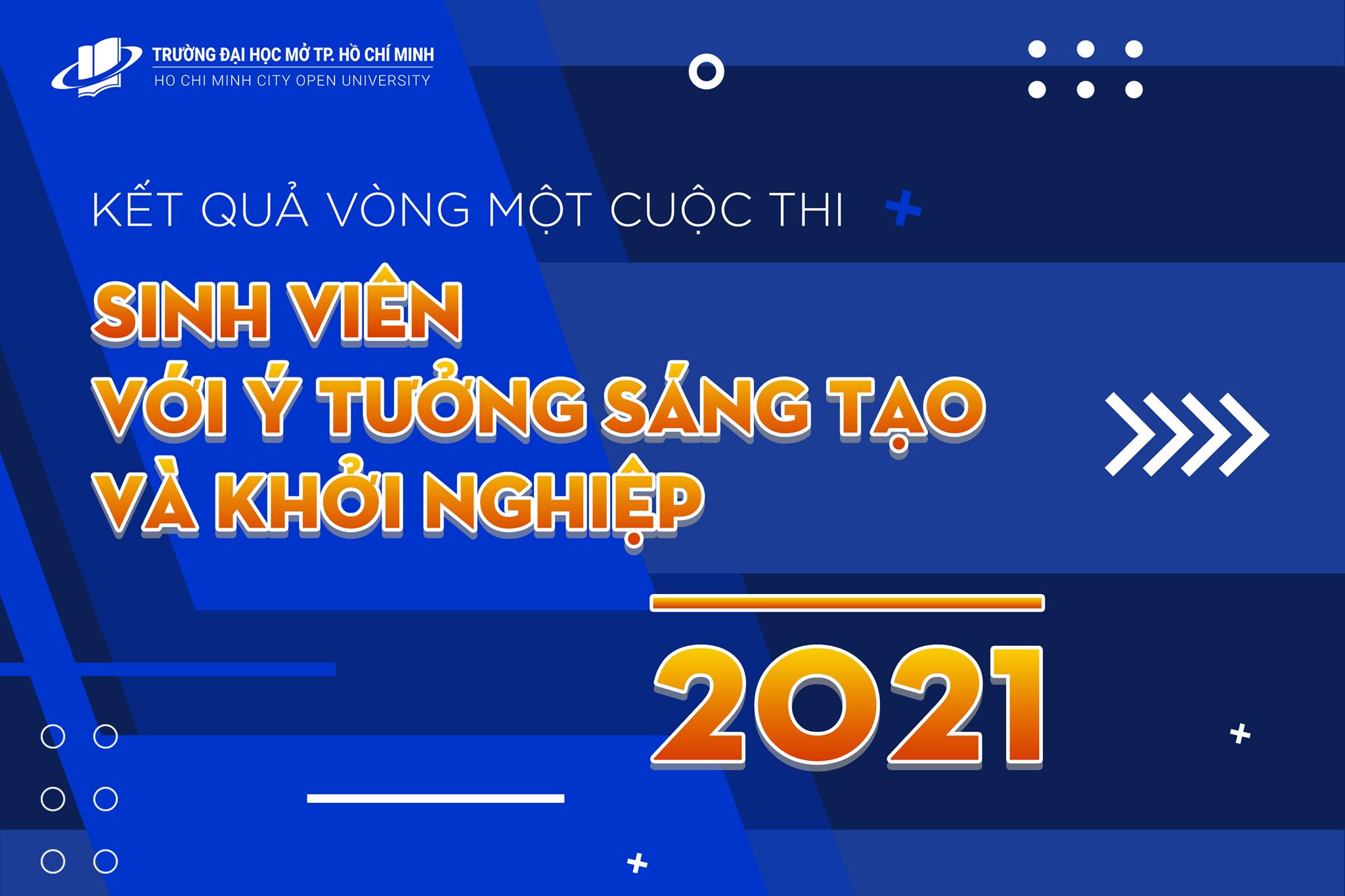 """Thông báo kết quả vòng 1 và tổ chức vòng 2  Cuộc thi """"Sinh viên với ý tưởng sáng tạo và khởi nghiệp"""" – Năm 2021"""