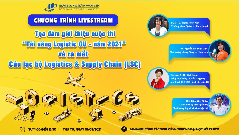 """Tọa đàm giới thiệu cuộc thi """"Tài năng Logistic OU – 2021"""""""