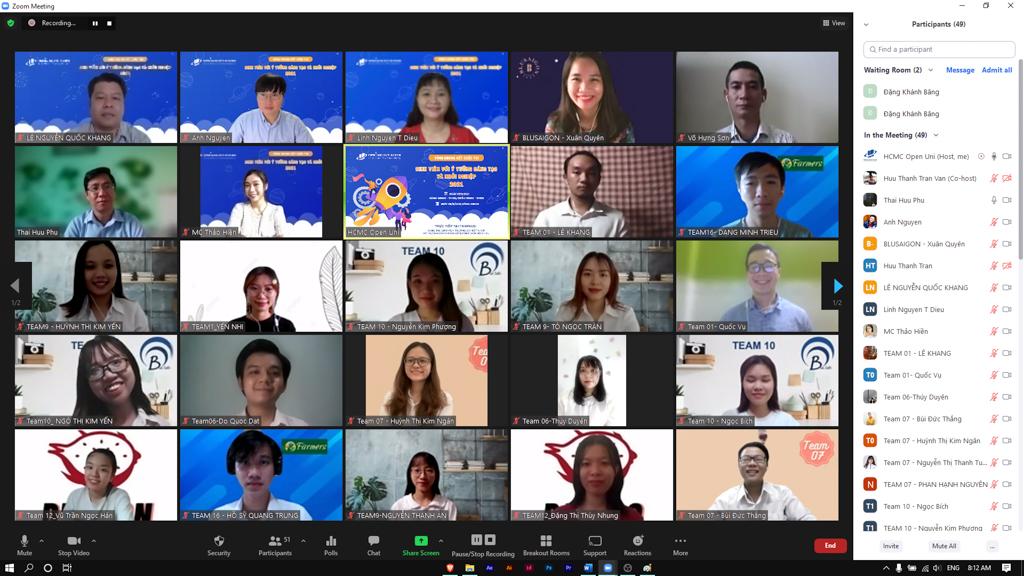 """Vòng Chung kết Cuộc thi """"Sinh viên với ý tưởng sáng tạo và khởi nghiệp"""" năm 2021"""