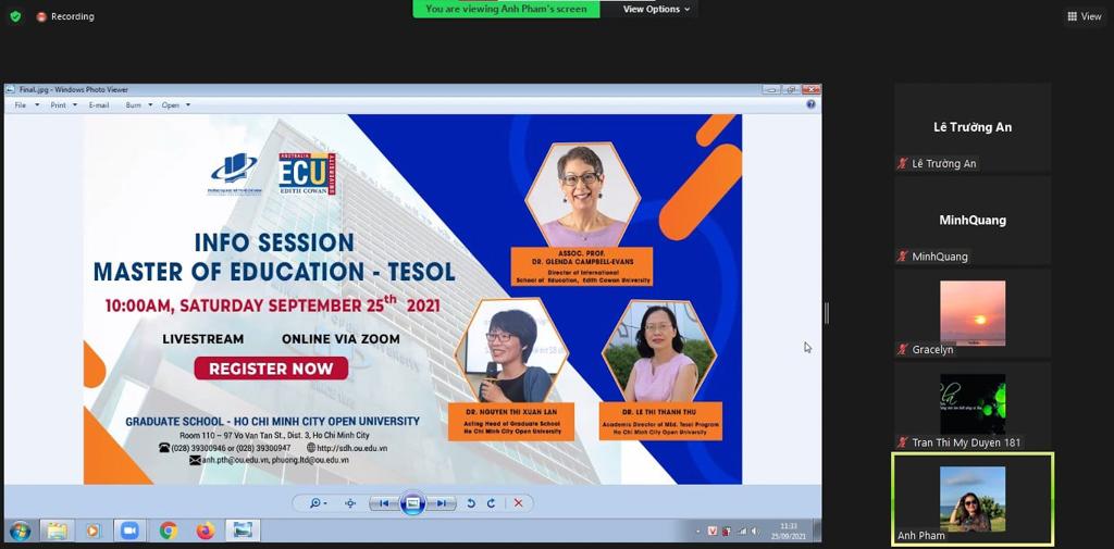 Buổi Giới thiệu chương trình đào tạo Master of Education – TESOL liên kết với Edith Cowan University (Úc)