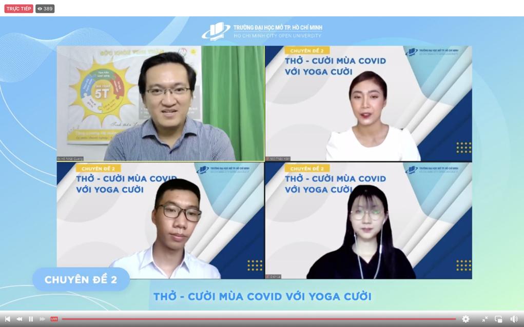 """Chuyên đề 2 """"Thở – Cười mùa Covid với Yoga cười"""""""